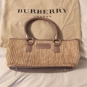 Burberry London Straw Woven Satchel